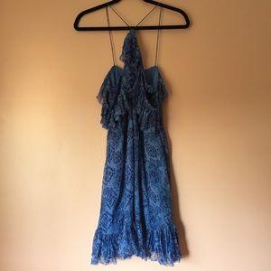 Majorelle Dresses - Majorelle Ikat Halter Off Shoulder Dress